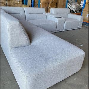 Enzo Modular Sofa Left Hand Chaise - Fabric Cloud