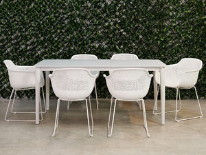 Fountana Outdoor Aluminium Table 210cm x 95cm - White