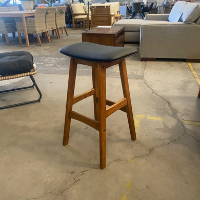 Gang Stool - Black/ Antique Maple