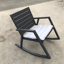 Load image into Gallery viewer, Grafton Outdoor Rocking Chair -Gunmetal (SOLD OUT- STOCK DUE LATE JANUARY)
