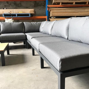 Naples Outdoor Corner Lounge 5pce Gunmetal