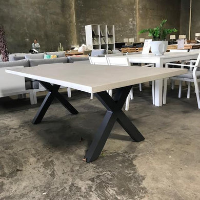 Switch Table Industrial Grey with Gunmetal X Leg
