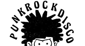 Punk rock disco t shirt designs. Logo with Dennis the menace