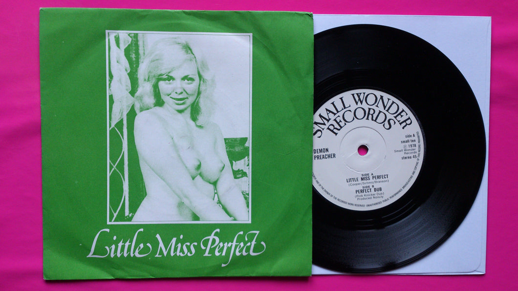 Demon Preacher - Little Miss Perfect rare Punk Single From 1978