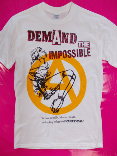 Demand The Impossible white punk rock T-Shirt