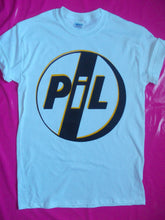 Load image into Gallery viewer, PIL / Public Image Limited Logo Punk Rock T-shirt in white