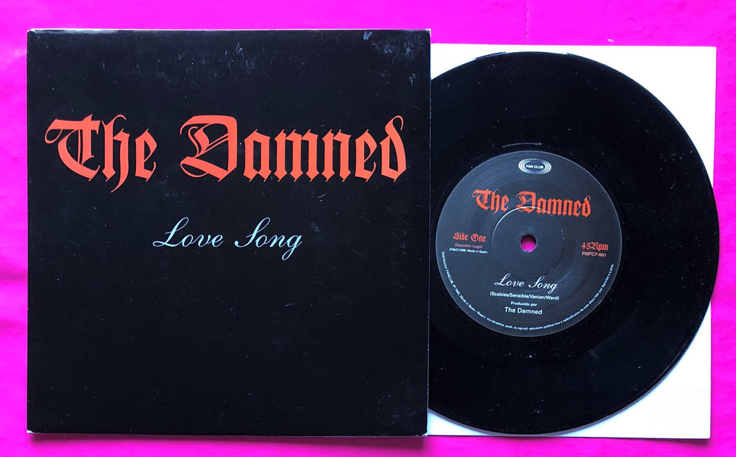 The Damned - Love Song / Blackout Spanish Fan Club 7