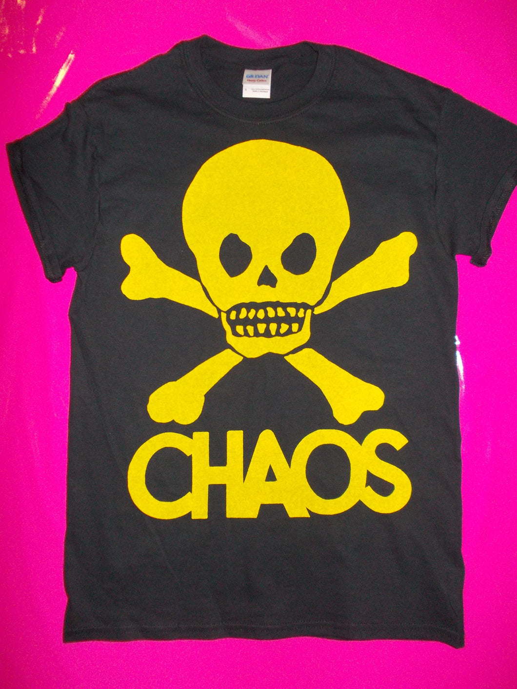 Chaos / Skull Punk Rock T-Shirt In Various Colours And Sizes