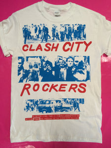The Clash - Clash City Rockers Punk T-Shirt Blue Print