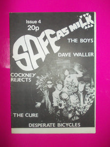 Safe As Milk Punk Fanzine Issue 4 From 1980