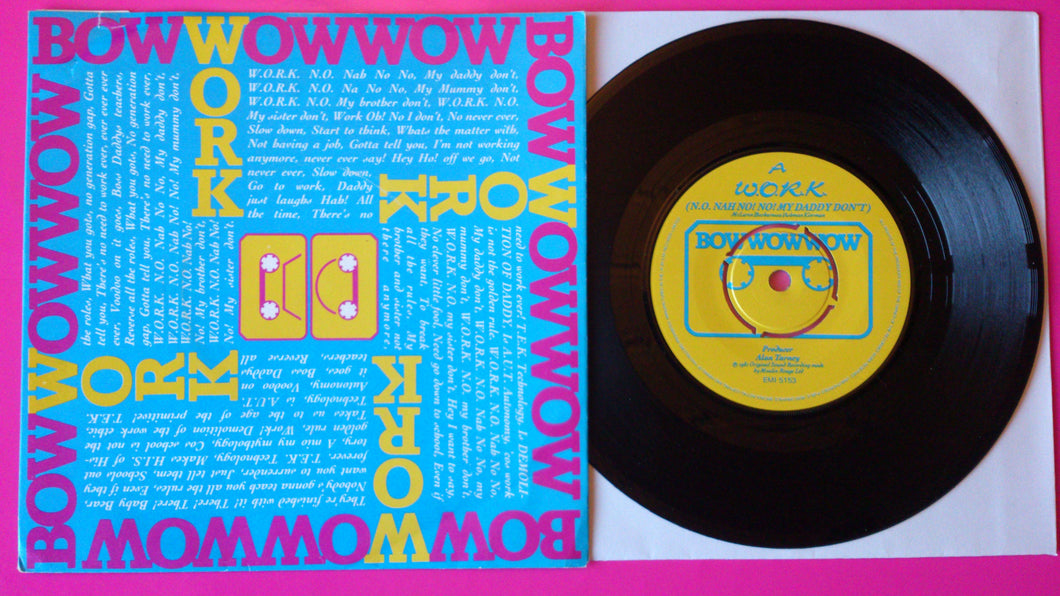 Bow Wow Wow - Work UK Vinyl Single on EMI from 1980