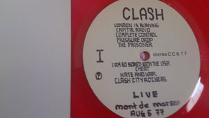 The Clash - Mont De Marsan 1977 Red Vinyl Bootleg LP