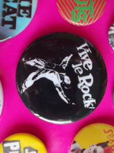 Load image into Gallery viewer, Vive Le Rock / Little Richard metal badge 56 mm