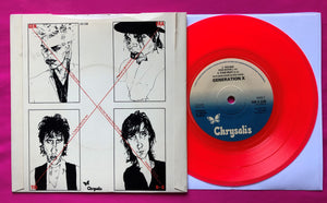 Generation X - Friday's Angels Red Vinyl Single on Chrysalis Records