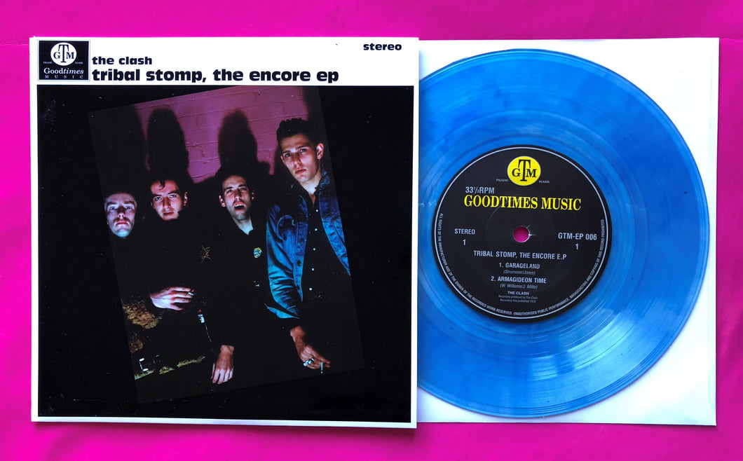 The Clash -Tribal Stomp The Encore EP Blue Vinyl Single
