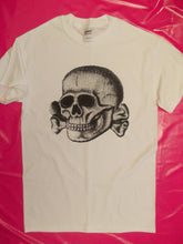 Load image into Gallery viewer, Punk Rock Deaths head Skull print White cotton T-shirt