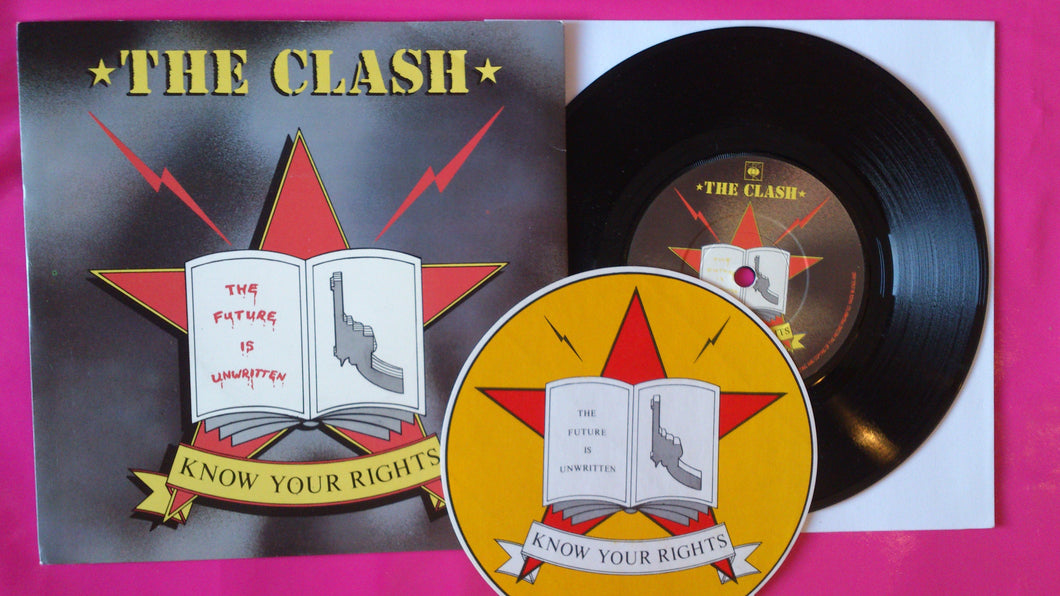 The Clash - Know YourRights UK Pressing On CBS With Sticker