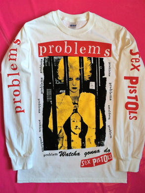 Sex Pistols - Problems / Debbie Juvenile Long Sleeve Punk  T-Shirt