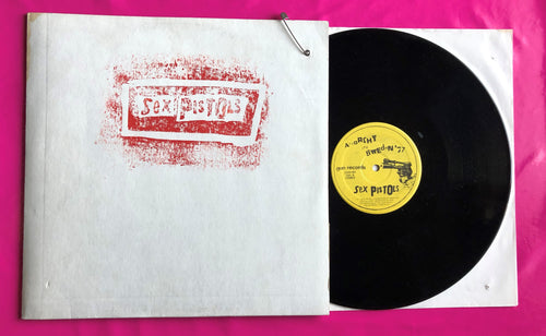 Sex Pistols - Anarchy in Sweden '77 Rare Bootleg LP on Gun Records