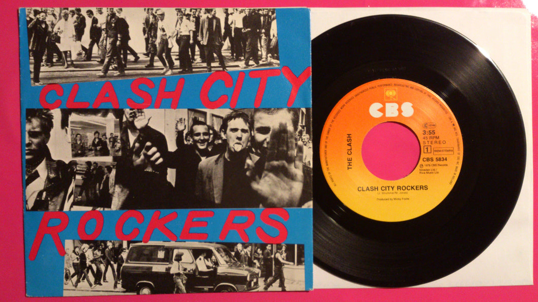 The Clash - Clash City Rockers  Dutch Pressing 1978