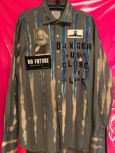 Load image into Gallery viewer, Punk Shirt In Anarchy Style With Patches And Slogans Size Large