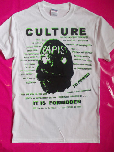 Culture / Forbidden White Punk Rock / Situationist  T-Shirt