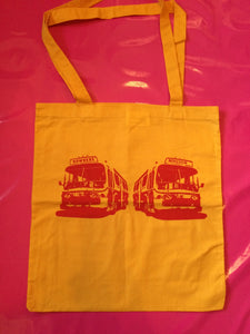 Sex Pistols - Pretty Vacant Buses Yellow Cotton Tote Bag