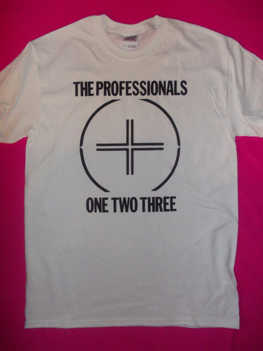 The Professionals - One Two Three White Punk Rock T-Shirt