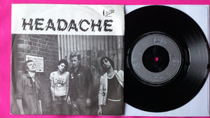 "Headache - Can't Stand Still 7"" Punk Rock Single From 1977 Lout Records"