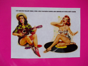 Steve Jones girls self adhesive guitar stickers