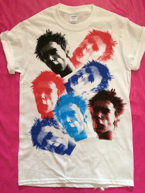 Johnny Rotten - Multiple Rotten Head Print Punk Rock T-Shirt
