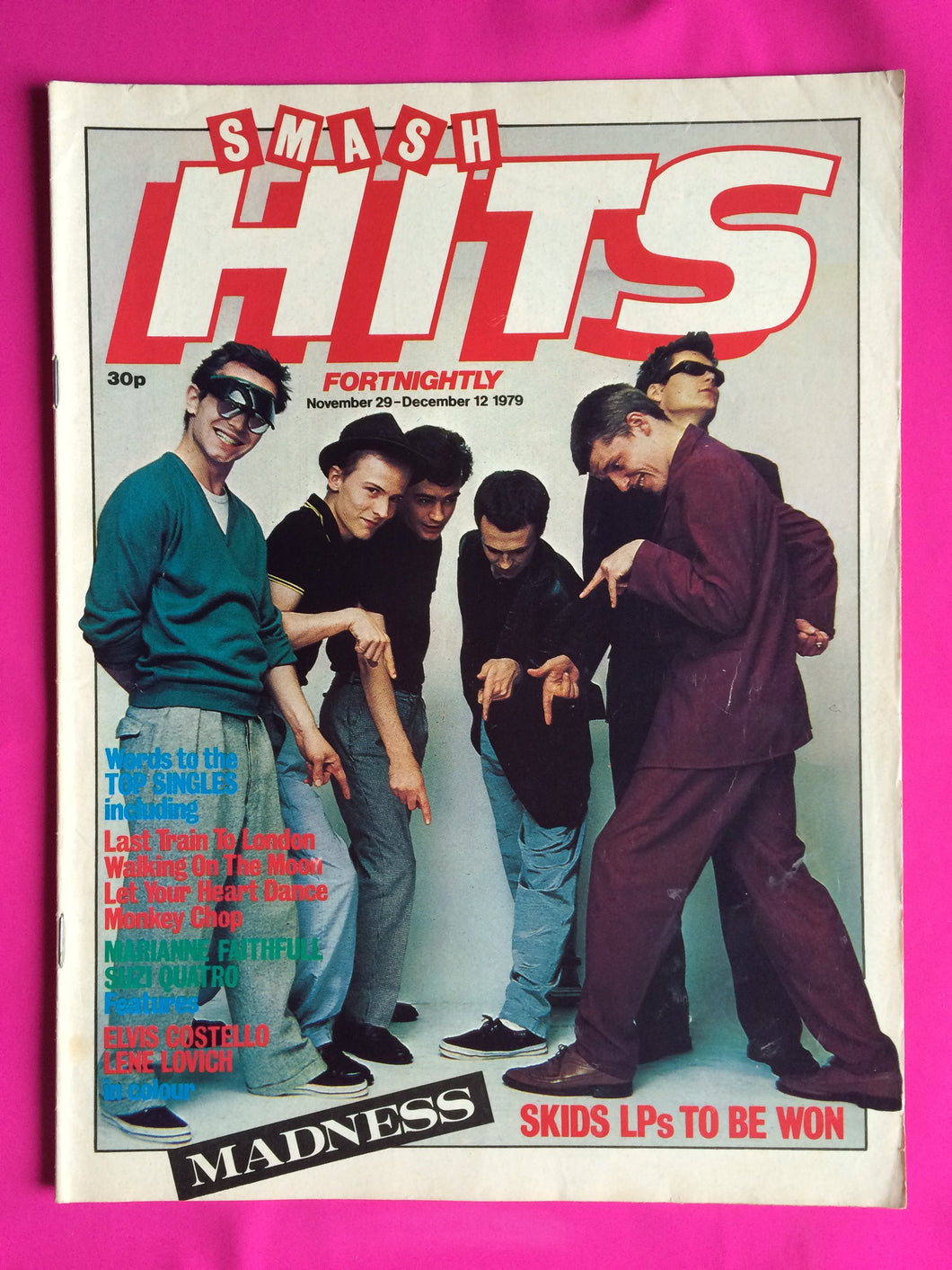 Smash Hits Magazine from Nov/Dec 1980 Featuring The Jam and other new wave acts