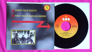 "The Clash - Know Your Rights 7"" single Italian Pressing"