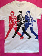 Load image into Gallery viewer, Elvis Costello x 3 T-Shirt 3 Colour Print White T-Shirt