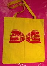 Load image into Gallery viewer, Sex Pistols - Pretty Vacant Buses Yellow Cotton Tote Bag