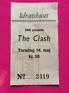 The Clash - Original Concert Ticket For Copenhagen 1981