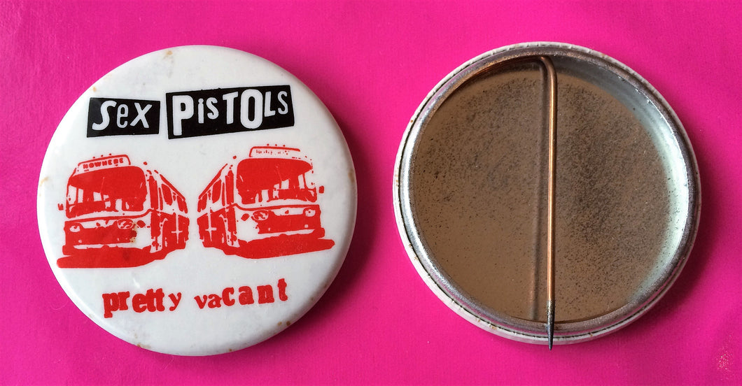 Sex Pistols - Pretty Vacant Original Vintage U.S. Promo Badge 52mm