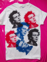 Load image into Gallery viewer, Sex Pistols - Sid Vicious multi-print white punk rock T-Shirt