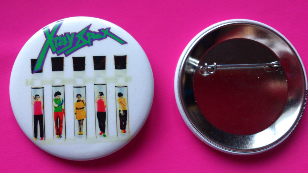 X Ray Spex - Germ Free Adolescents 56mm Metal Punk Rock Badge