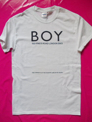 BOY Strength Of The Country white Punk Rock T-Shirt