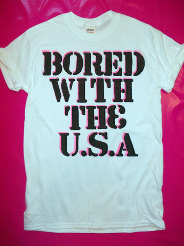 The Clash - Bored With The USA Punk Rock T-Shirt