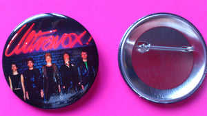 Ultravox - Ultravox With John Foxx Metal Badge New 55mm