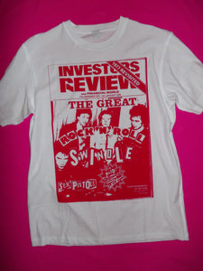 Sex Pistols Rock 'n' Roll Swindle White punk rock T-Shirt