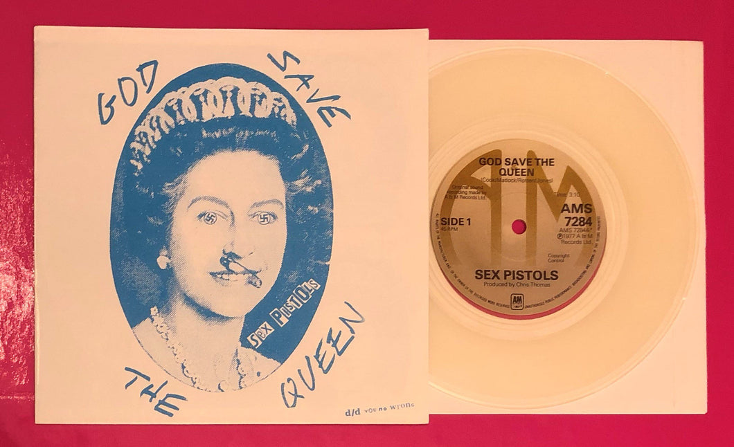 Sex Pistols - God Save The Queen       A & M Records Clear Vinyl Repro