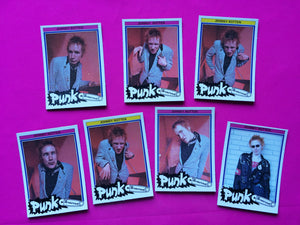 Johnny Rotten - Set Of 7 Punk Collector Cards By Monty Of Holland