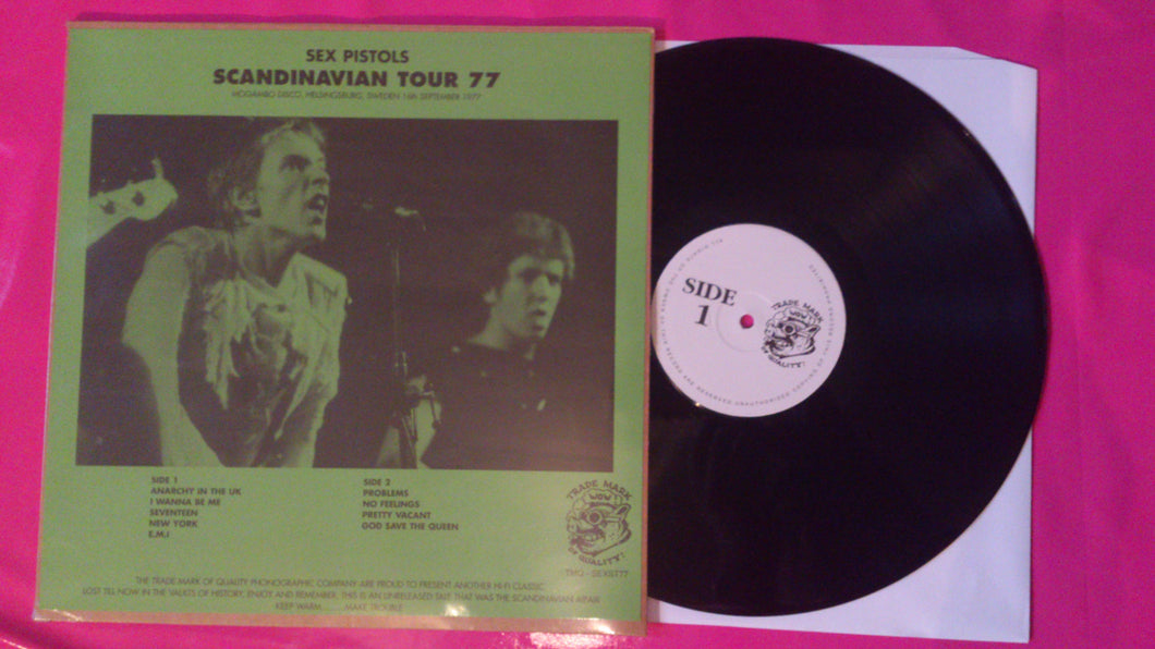 Sex Pistols - Scandinavian Tour 1977 Bootleg LP
