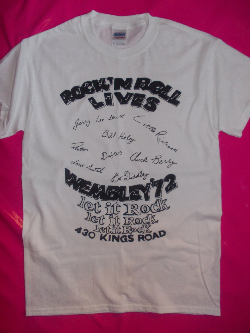 Let It Rock Wembley '72 / Rock 'n'Roll Lives White T-Shirt