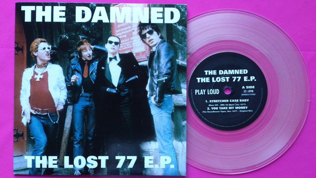 The Damned - The Lost 77 E.P. Clear Vinyl Punk Single