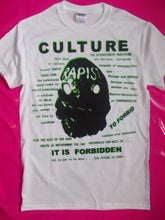 Load image into Gallery viewer, Culture / Forbidden White Punk Rock / Situationist  T-Shirt