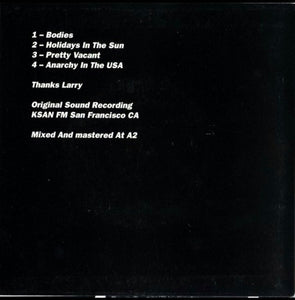 "Sex Pistols - Regular S.F. ""Ippies"" and Assorted Longhairs 7"" E.P. From 2002"